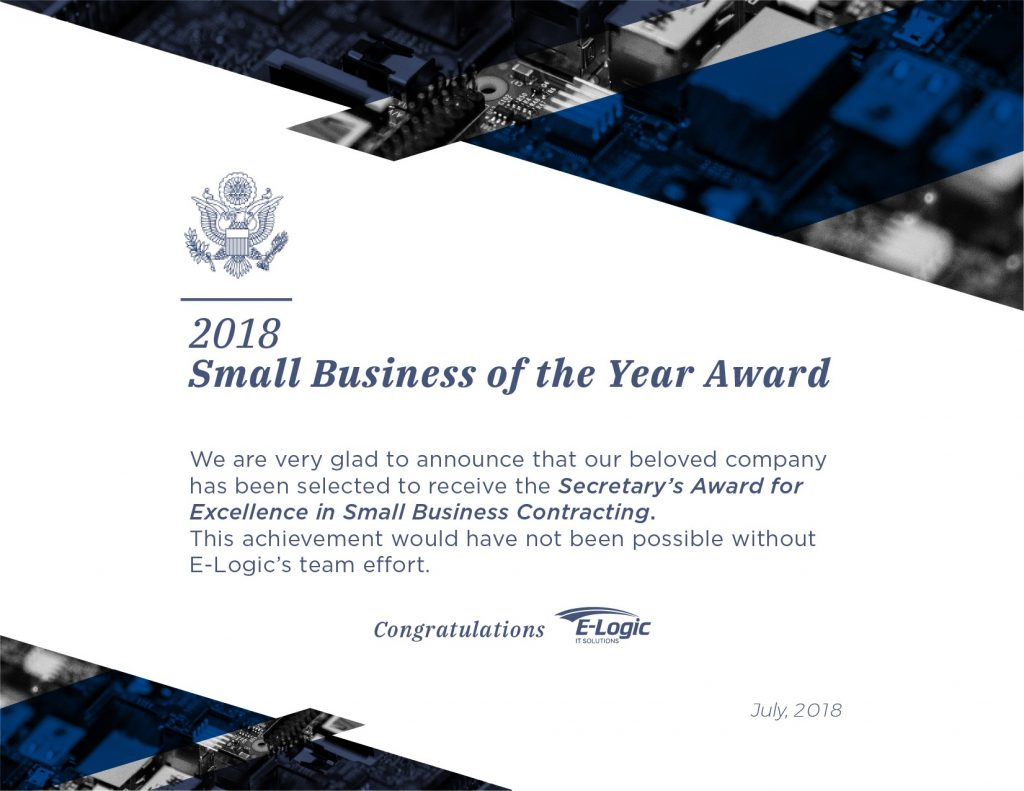 Secretary S Award For Excellence In Small Business Contracting E Logic